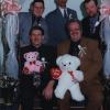 The Master's Quartet at a Valentine's Dinner. Eric Jolley, Steve Partridge, Mike Hoss Smith, Bruce Wells & Jeff Lowe  with the teddy bears. Good Times!